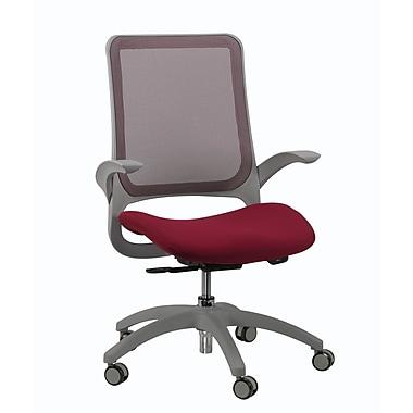 Eurotech Seating Hawk Mesh Desk Chair; Burgundy