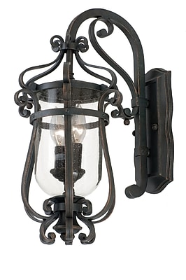 Kalco Hartford 2-Light Outdoor Wall Lantern; Burnished Bronze