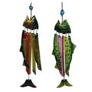 Evergreen Flag & Garden Fish Wind Chime (Set of 2)