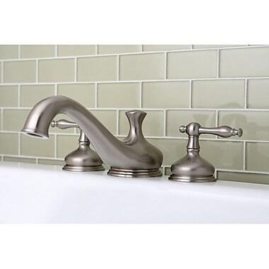 Kingston Brass Heritage Double Handle Roman Tub Faucet; Satin Nickel