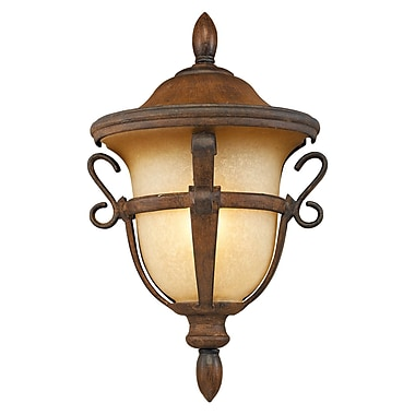 Kalco Tudor 1-Light Outdoor Sconce; Walnut