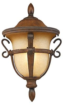 Kalco Tudor 1-Light Outdoor Sconce; Walnut