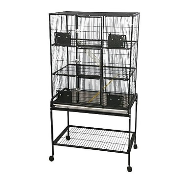 A&E Cage Co. 3 Level Small Animal Cage w/ Removable Base; Black