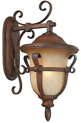Kalco Tudor 4-Light Outdoor Wall Lantern; Walnut