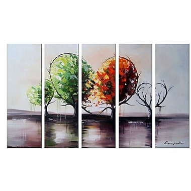 DesignArt Branch Out for Love Landscape Painting 5 Piece Painting on Canvas Set