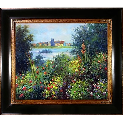 Tori Home Flowers at Vetheuil by Claude Monet Framed Painting Print