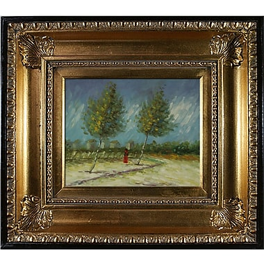 Wildon Home on the Outskirts of Paris by Vincent Van Gogh Framed Painting