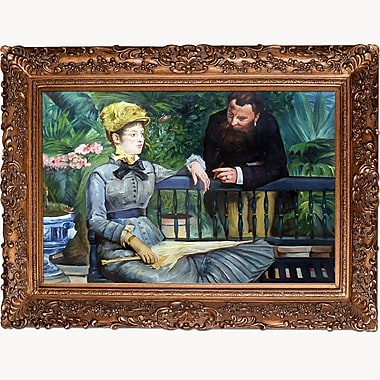 Tori Home In the Conservatory by Edouard Manet Framed Painting Print on Wrapped Canvas