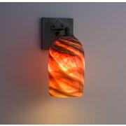 WPT Design Rose 1-Light Craftsman Wall Sconce; Amber