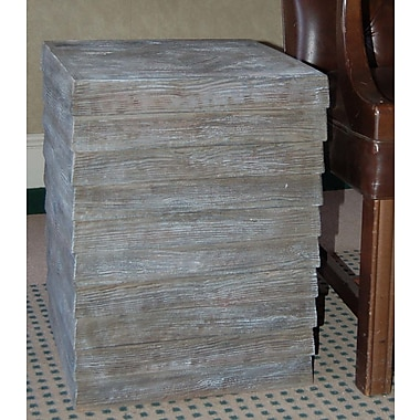 Hickory Manor House Plank End Table; Driftwood