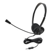 Ergoguys Califone 3065AVT Wired Binaural Headset, Black