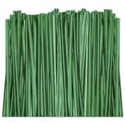 "4"" Metallic Twist Tie, Green"