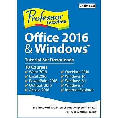 Professor Teaches Office 2016 & Windows Tutorial Set Downloads [Download]