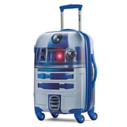 "American Tourister Disney Star Wars R2-D2 Silver 21"" Hardside ABS/PC split case shell (65777-4431)"