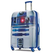 "American Tourister Disney Star Wars R2-D2 Silver 28"" Hardside ABS/PC split case shell (65778-4431)"