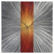 Metal Art Studio 22'' Stripe Wall Clock; Orange