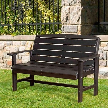 Little Cottage Company Classic Poly Lumber Garden Bench; Weathered Wood