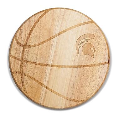 Picnic Time NCAA Free Throw Cutting Board; Michigan State