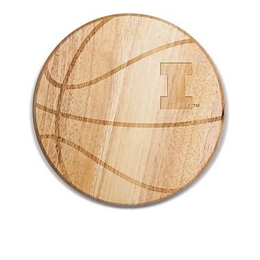 Picnic Time NCAA Free Throw Cutting Board; Illinois