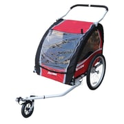 Allen Sports AST200 Aluminum Two-Child Trailer, Red
