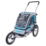 Allen Sports SST1 One-Child Jogger Trailer, Blue/Silver