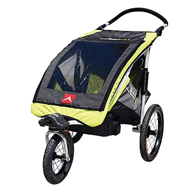 Allen Sports JTX1 One Child Aluminum Stroller / Trailer, Yellow
