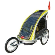 Allen Sports XLT-X2 Premium Two-Child Aluminum Jogger and Trailer, Green