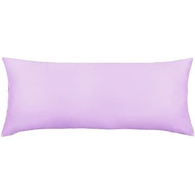 J.S. – Taie d'oreiller de corps en coton polyester, 54 po x 21 po, ultra douce, violet, paq./2