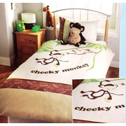 Season Collection Cheeky Monkey Single Duvet Set, Twin Size