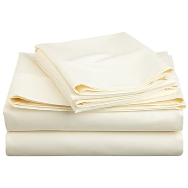 Swiss Collection 1800 Series Microfiber Sheet Set, Solid, Double, Ivory