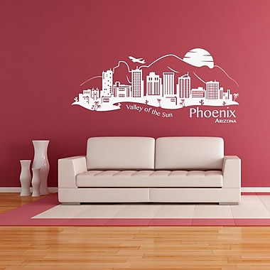 Style and Apply Phoenix Skyline Wall Decal; Violet