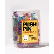 Dowling Magnets 72 Jumbo Push Pins In A Bucket