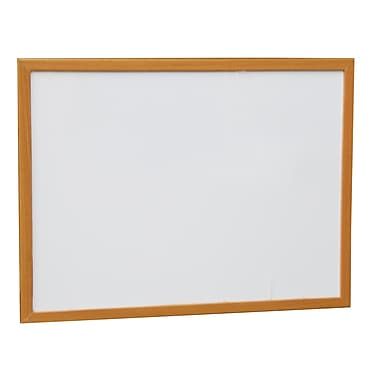 NeoPlex Wood Framed Wall Mounted Magnetic Whiteboard; 1.5' H x 2' W