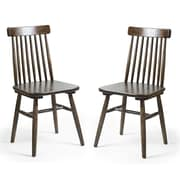 AdecoTrading Solid Wood Dining Chair (Set of 2)