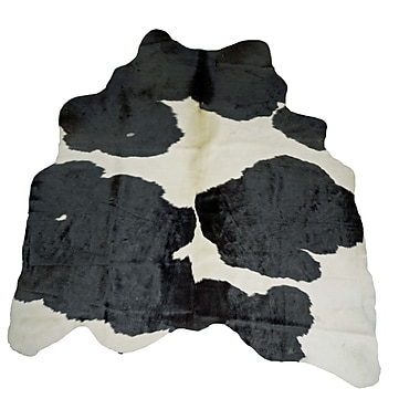 Trophy Room Stuff Natural Cowhides Black and White Area Rug