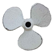 Handcrafted Nautical Decor Propeller Paperweight; Whitewashed