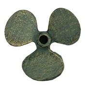 Handcrafted Nautical Decor Propeller Paperweight; Antique Bronze