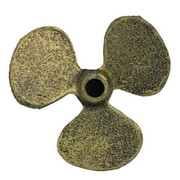 Handcrafted Nautical Decor Propeller Paperweight; Antique Gold