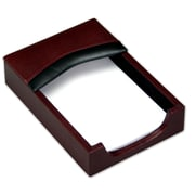 Dacasso 7000 Series Contemporary Leather 4 x 6 Memo Holder in Burgundy