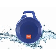 JBL Clip Plus Portable Bluetooth Speaker with Carabiner, Blue