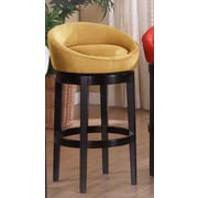 Armen Living Igloo 30'' Swivel Bar Stool; Yellow