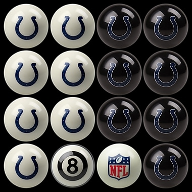 Imperial 16 Piece NFL Billiard Ball Set; Indianapolis Colts