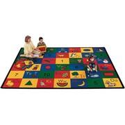 Carpets for Kids Carpet Kits Shape / Number Block Carpet Squares; 1' x 1'