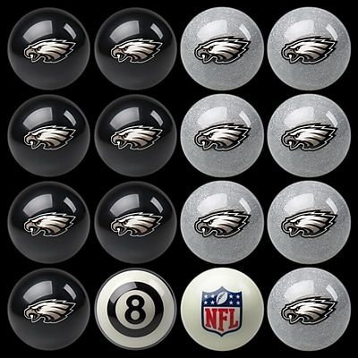 Imperial 16 Piece NFL Billiard Ball Set; Philadelphia Eagles WYF078275885846