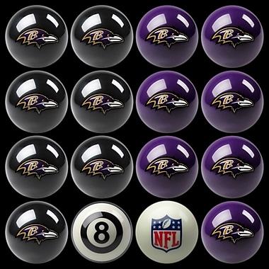 Imperial 16 Piece NFL Billiard Ball Set; Baltimore Ravens