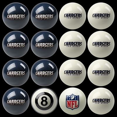 Imperial 16 Piece NFL Billiard Ball Set; San Diego Chargers WYF078276006487