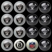 Imperial 16 Piece NFL Billiard Ball Set; Oakland Raiders