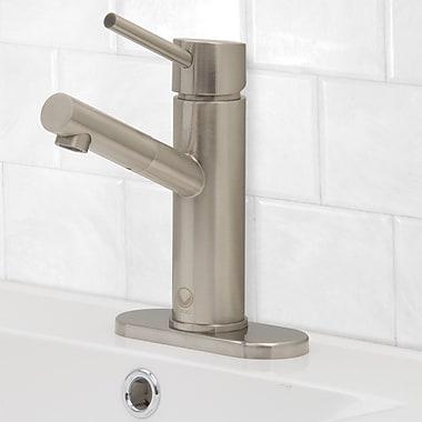 Vigo Noma Single Lever Basin Bathroom Faucet w/ Deck Plate; Brushed Nickel