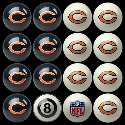 Imperial 16 Piece NFL Billiard Ball Set; Chicago Bears WYF078275924429