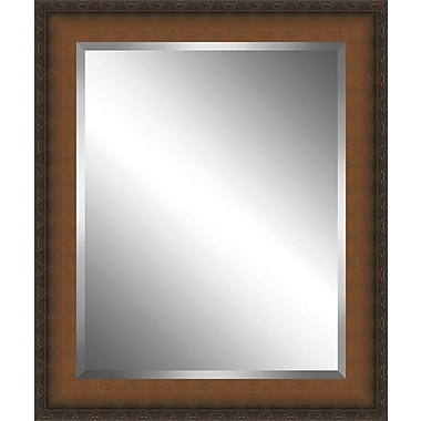 Ashton Wall D cor LLC Country Wood Framed Beveled Plate Glass Mirror; Small